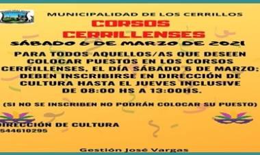 LOS CERRILLOS,TRASLASIERRA : ATENCIÓN PUESTEROS, COMO HACER PARA ESTAR PRESENTES EN LOS CORSOS CERRILLENSES 2021.