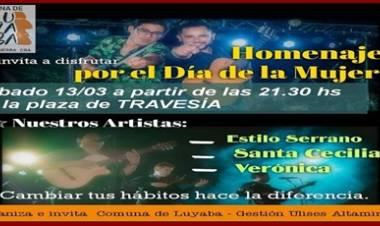 TRAVESÍA ,TRASLASIERRA : HOMENAJE POR EL DÍA DE LA MADRE,EL SÁBADO 13 DE MARZO,DESDE LAS 21,30 HORAS