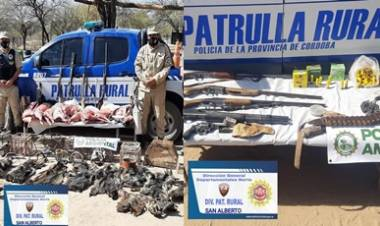 SAN VICENTE, TRASLASIERRA : IMPORTANTE OPERATIVO PRESERVACIÓN DE FAUNA SILVESTRE- SECUESTRO DE ARMAS DE FUEGO UNA PERSONA DETENIDA.