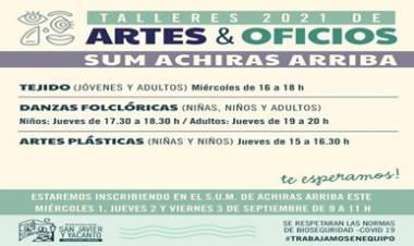 ACHIRAS ARRIBA, SAN JAVIER : TALLERES DE ARTES Y OFICIOS.