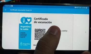 """CORONAVIRUS : LA CREDENCIAL DIGITAL""""MI ARGENTINA"""" SERÁ LA ACREDITACIÓN INTERNACIONAL DE VACUNACIÓN."""