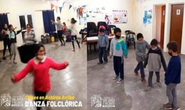 CLASES GRATUITAS DE DANZAS FOLCLÓRICAS EN ACHIRAS ARRIBA, SAN JAVIER.