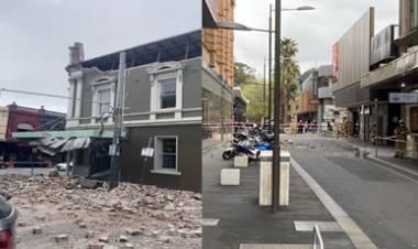 PRIMERAS IMÁGENES DE LA DESTRUCCIÓN DEJADA POR EL TERREMOTO DE 5,8 EN AUSTRALIA