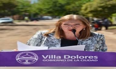 VILLA DOLORES : LA INTENDENTE GLORIA PEREYRA INAUGURÓ LA OBRA DE CORDÓN CUNETA DEL BARRIO SAN MARTÍN.