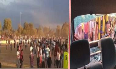 FÚTBOL DE LA LIGA DOLORENSE : SAN PEDRO, BATALLA CAMPAL EN EL CAMPO DE JUEGO Y AFUERA DEL MISMO.