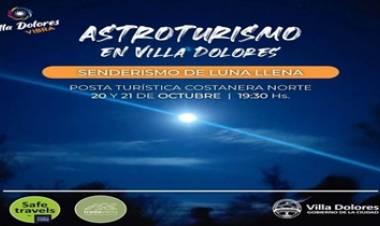 ASTROTURISMO EN VILLA DOLORES - SENDERO INTI HUACA EL 20 Y 21 DE OCTUBRE.