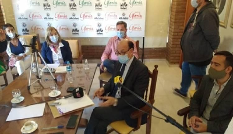 REUNIÓN DEL DR. OSCAR GONZÁLEZ CON LA INTENDENTA DE VILLA DOLORES, PROF. GLORIA PEREYRA.